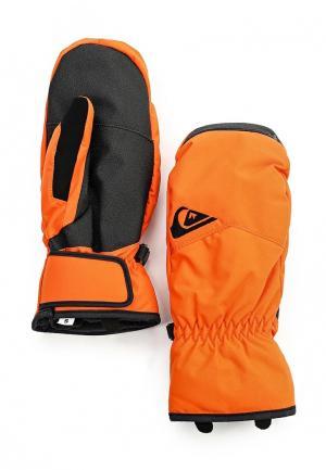 Варежки Quiksilver. Цвет: оранжевый