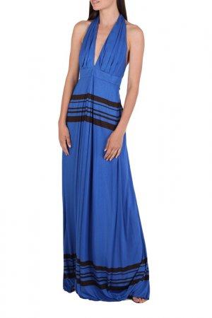 Платье Chapurin. Цвет: синий, черный, полоска