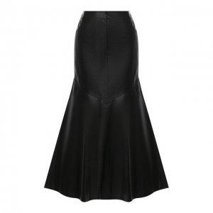 Кожаная юбка Kenzo. Цвет: чёрный