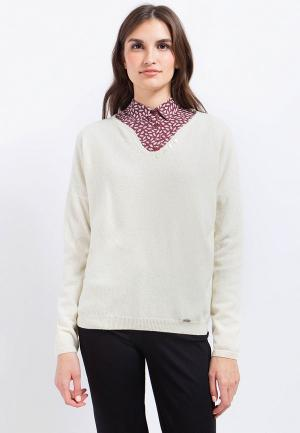 Пуловер Finn Flare. Цвет: бежевый