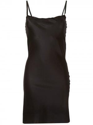 Платье-комбинация длины мини Ann Demeulemeester. Цвет: черный