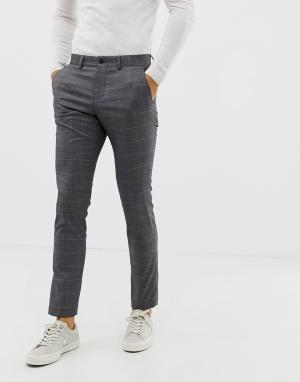 Серые брюки в клетку -Серый Lindbergh