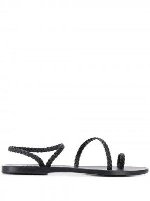 Сандалии Eleftheria с ремешками Ancient Greek Sandals. Цвет: черный