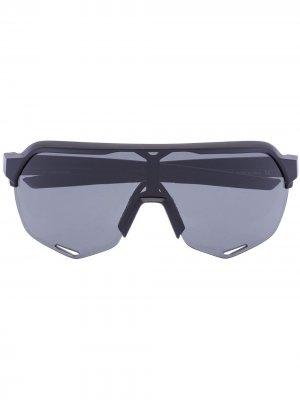 Солнцезащитные очки-авиаторы 100% Eyewear. Цвет: черный