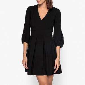 Платье расклешенное TYNDA BA&SH. Цвет: черный