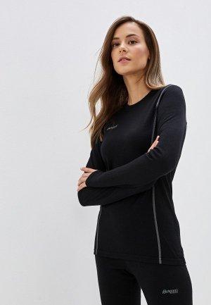 Термобелье верх Bergans of Norway Akeleie Lady Shirt. Цвет: черный