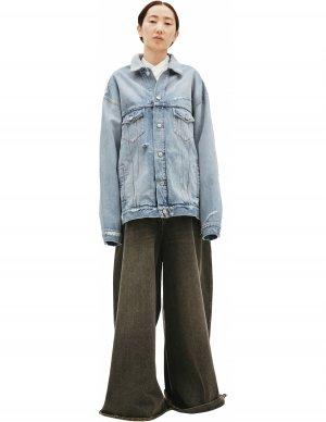 Джинсовая куртка с вышивкой на спине Balenciaga