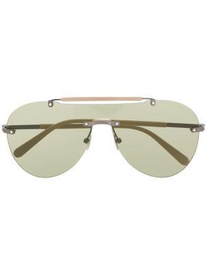 Очки-авиаторы True Luxury Brioni. Цвет: нейтральные цвета