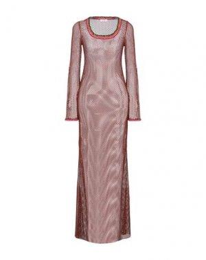 Длинное платье PIN UP STARS. Цвет: коричневый