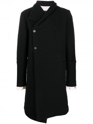 Пальто с запахом 10Sei0otto. Цвет: черный