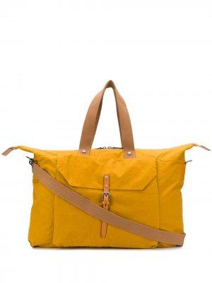 Дорожная сумка Freddie Ally Capellino. Цвет: желтый