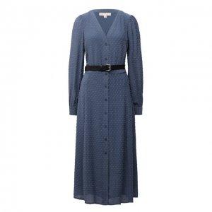 Платье MICHAEL Kors. Цвет: голубой