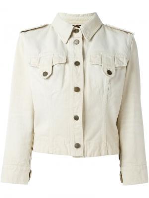 Джинсовая куртка в стиле милитари Dolce & Gabbana Vintage. Цвет: телесный
