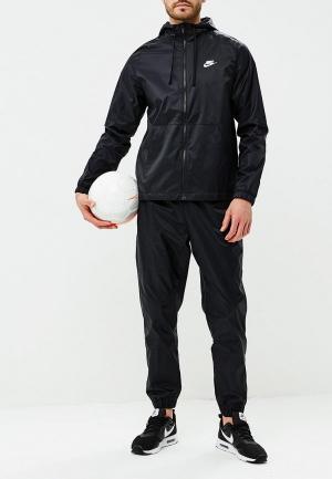 Костюм спортивный Nike Sportswear Mens Woven Hooded Track Suit. Цвет: черный