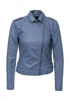 Куртка кожаная Vila. Цвет: синий