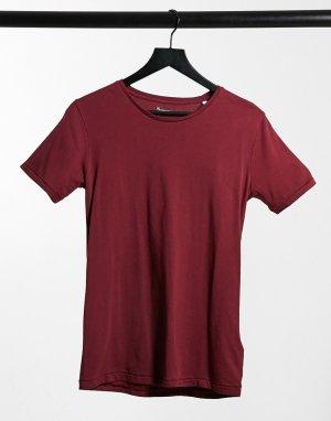 Красная футболка из органического хлопка -Красный Knowledge Cotton Apparel