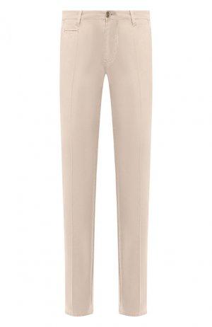 Хлопковые брюки Baldessarini. Цвет: бежевый