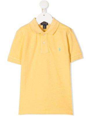 Рубашка поло с вышивкой Polo Poney Ralph Lauren Kids. Цвет: желтый
