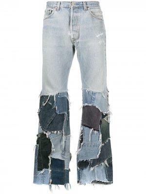 Расклешенные джинсы Jesse с технике пэчворк GALLERY DEPT.. Цвет: синий