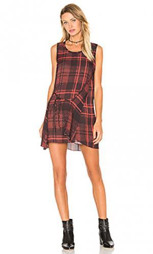 Драпированное платье с узлом McQ Alexander McQueen. Цвет: красный
