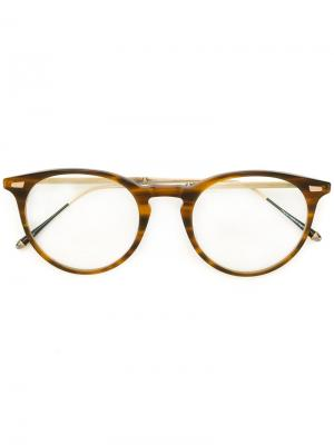Очки с узором черепашьего панциря Matsuda. Цвет: коричневый