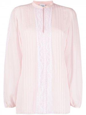 Блузка с кружевной вставкой Giambattista Valli. Цвет: розовый