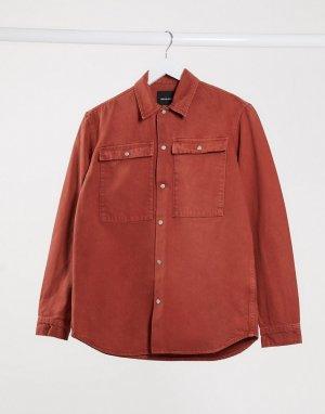 Розовая рубашка навыпуск с карманами Premium-Розовый Jack & Jones