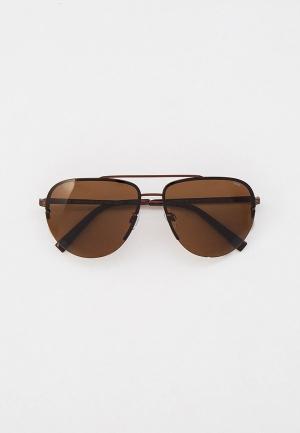 Очки солнцезащитные Invu с поляризационными линзами. Цвет: коричневый