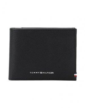 Бумажник TOMMY HILFIGER. Цвет: черный