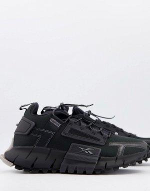 Черные кроссовки Reebok Running Zig Kinetica Edge-Черный цвет