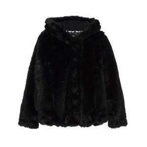 Пальто короткое из искусственного меха LE TEMPS DES CERISES. Цвет: черный