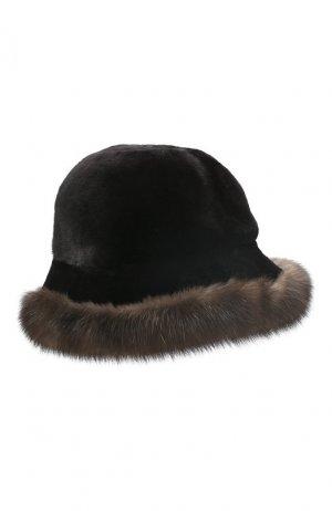 Шляпа из меха норки и соболя Kussenkovv. Цвет: черный