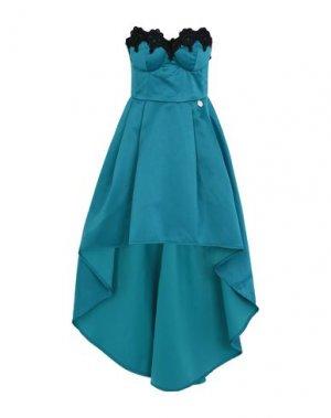 Короткое платье MANGANO. Цвет: цвет морской волны