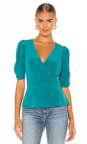 Блузка juniper Parker. Цвет: сине-зеленый
