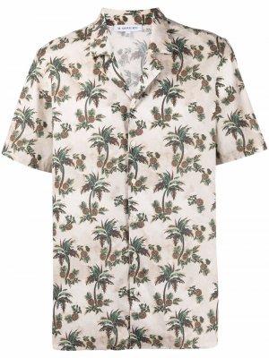 Рубашка с короткими рукавами и принтом Manuel Ritz. Цвет: нейтральные цвета