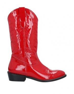 Полусапоги и высокие ботинки ÂME. Цвет: красный
