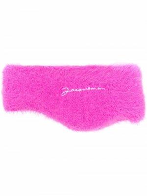 Fluffy knit headband Jacquemus. Цвет: розовый