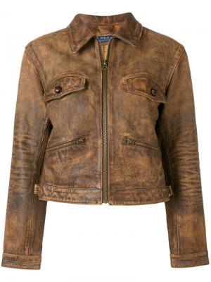 Кожаная куртка с застежкой на молнии Polo Ralph Lauren