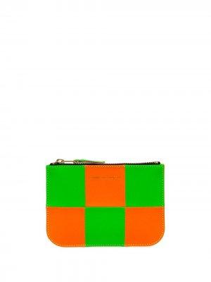 Клатч Fluo Square на молнии Comme Des Garçons Wallet. Цвет: зеленый