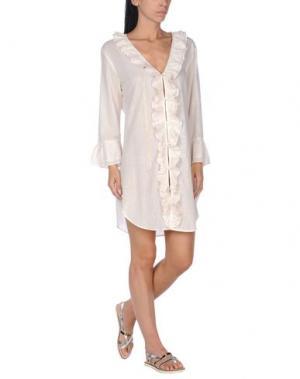 Пляжное платье ELIZABETH HURLEY. Цвет: слоновая кость
