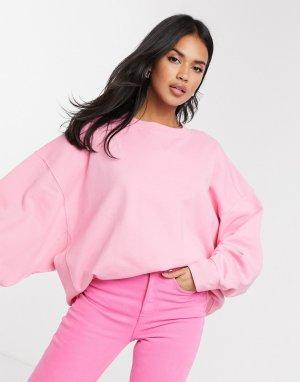 Розовый oversized-свитшот со вставками  ASOS DESIGN