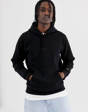 Черный свитшот с капюшоном Chase Carhartt WIP