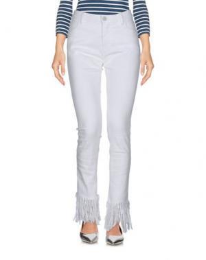 Джинсовые брюки ATTIC AND BARN. Цвет: белый