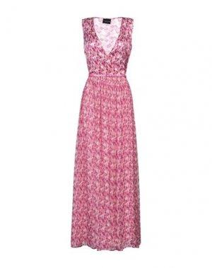 Длинное платье ATOS LOMBARDINI. Цвет: фуксия