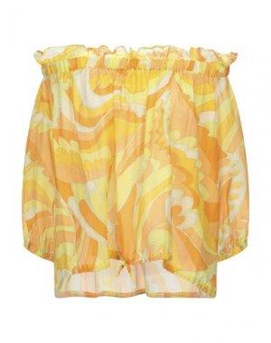 Блузка ATTIC AND BARN. Цвет: желтый