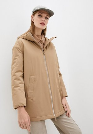 Куртка утепленная Max Mara Leisure OSCURO. Цвет: бежевый