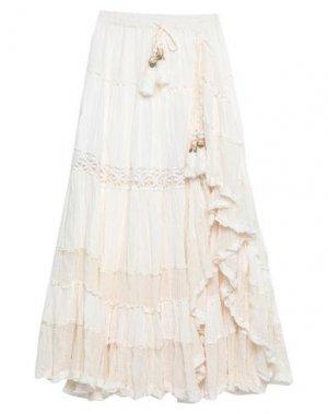 Длинная юбка GADO by MARGRIET WAGERAAR. Цвет: слоновая кость