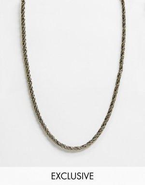 Золотистая цепочка в виде веревки Inspired-Золотой Reclaimed Vintage