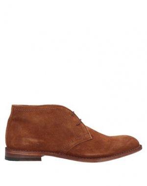 Полусапоги и высокие ботинки CORVARI. Цвет: желто-коричневый