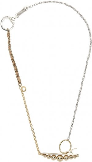 Gold & Silver Materialmix Hair Pin Necklace Bless. Цвет: gold/silver